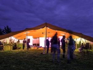 Bedouin Orange Festival Marquee