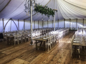 Elegant Wedding Dining Marquee beautiful wooden floor_