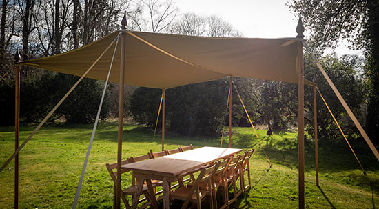 White Canopy for sale with seating